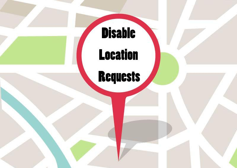 Disable Web Browser Location Requests